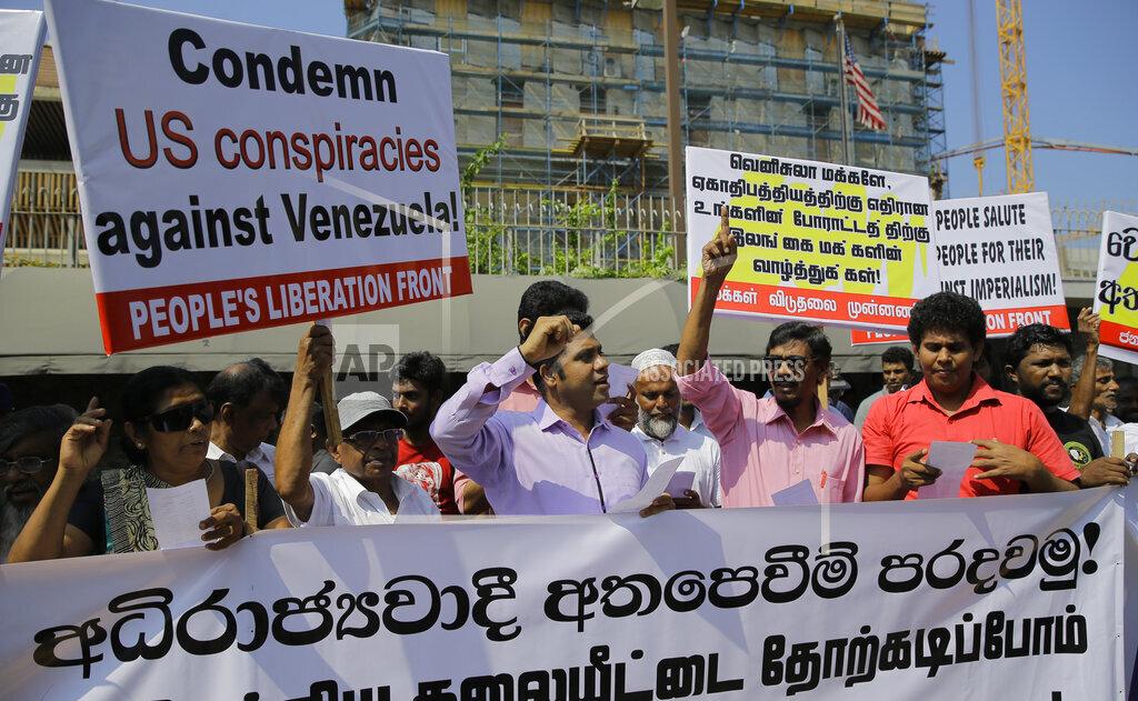 Sri Lanka US Venuzuela Protest