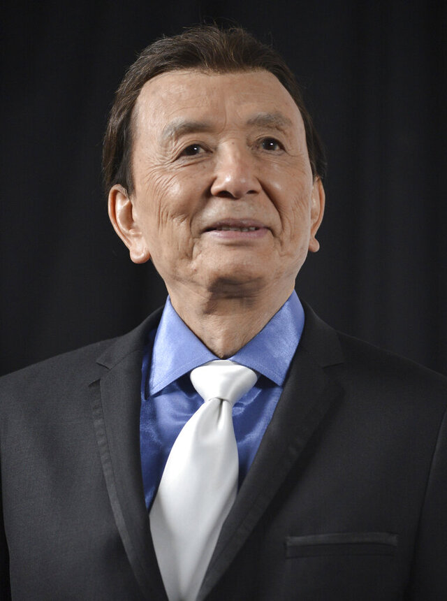 FILE - James Hong appears at the Huading Film Awards in Los Angeles on June 1, 2014. The 91-year-old actor, with more than 600 acting and voice-over credits to his name, will receive a star on the Hollywood Walk of Fame, thanks to actor Daniel Dae Kim, who launched a campaign to raise the money needed to create and install a star. (Photo by Richard Shotwell/Invision/AP, File)