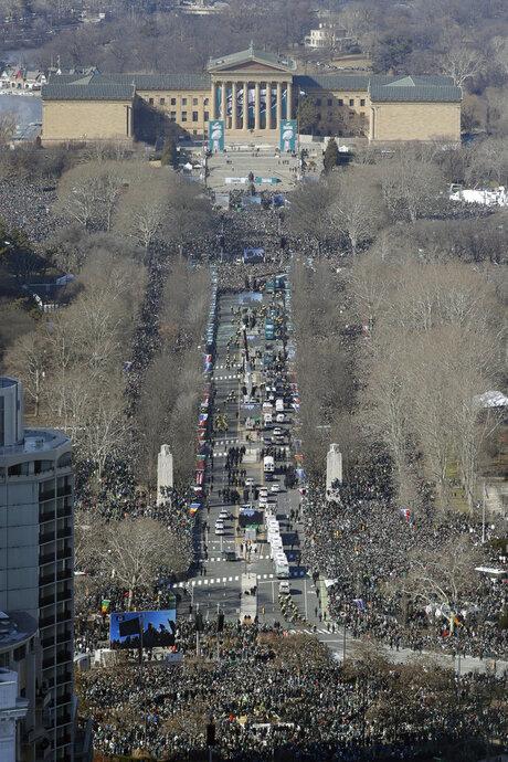 APTOPIX Super Bowl Parade Eagles Football
