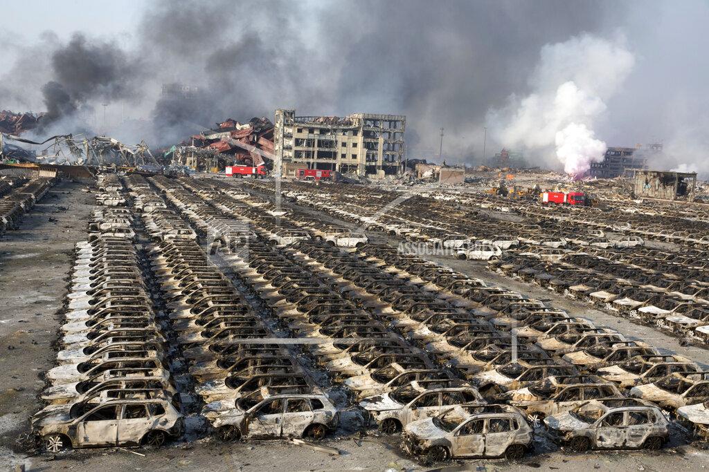 APTOPIX China Port Explosion
