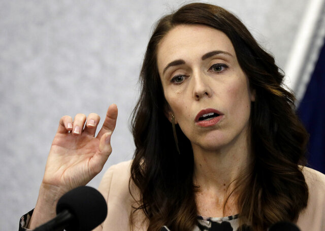 New Zealand Prime Minister Jacinda Ardern addresses a press conference in Christchurch, New Zealand, Friday, March 13, 2020.Events to mark the death of fifty-one people who were killed and dozens more injured when a gunman attacked two mosques in Christchurch March 15, 2019 begin today. (AP Photo/Mark Baker)