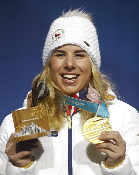 Pyeongchang Olympics Medals Ceremony Snowboard Women