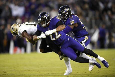 APTOPIX Saints Ravens Football