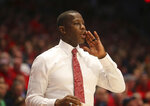 Dayton head coach Anthony Grant during the second half of an NCAA college basketball game against St. Louis , Saturday, Saturday, Feb. 1, 2020, in Dayton, Ohio. (AP Photo/Tony Tribble)