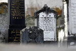 Jewish grave stones stand at a cemetery in Treuchtlingen, Germany, Tuesday, Nov. 6, 2018. When the Nazis came to power in 1933 there were 119 Jews in Treuchtlingen, slightly under 3 percent of the population, and they quickly came under pressure. (AP Photo/Matthias Schrader)