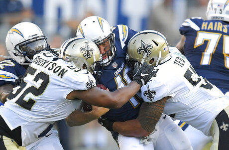 Saints Chargers Football