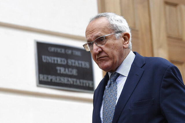 Jesus Seade, Mexican undersecretary to North America, walks out following a meeting with U.S. Trade Representative Robert Lighthizer​​ in Washington, Monday, Dec. 16, 2019. (AP Photo/Susan Walsh)