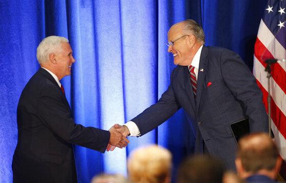 Mike Pence, Rudy Giuliani
