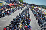 This Aug. 2, 2019 photo shows Main Street was filled with motorcycles in Sturgis, S.D. South Dakota, which has seen an uptick in coronavirus infections in recent weeks, is bracing to host hundreds of thousands of bikers for the 80th edition of the Sturgis Motorcycle Rally. More than 250,000 people are expected to attend the Aug. 7 to Aug. 16 rally in western South Dakota.   (Adam Fondren/Rapid City Journal via AP)
