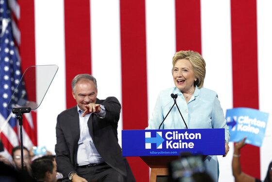 Hillary Clinton, Tim Kaine