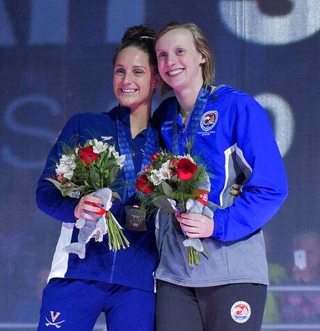 Katie Ledecky, Leah Smith