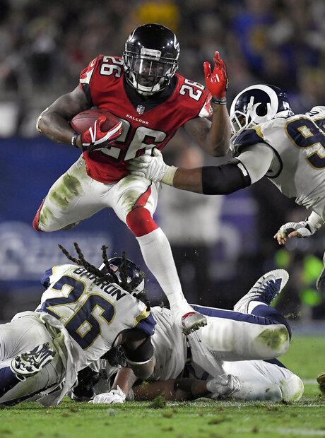 APTOPIX Falcons Rams Football