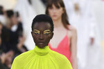A model wears a creation as part of the Valentino Ready To Wear Spring-Summer 2020 collection, unveiled during the fashion week, in Paris, Sunday, Sept. 29, 2019. (Photo by Vianney Le Caer/Invision/AP)