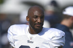 FILE - In this July 30, 2019, file photo, Los Angeles Rams cornerback Aqib Talib is shown during NFL football training camp in Irvine, Calif. The Los Angeles Rams have traded injured cornerback Aqib Talib and a fifth-round pick to the Miami Dolphins for an undisclosed future draft choice. The Rams on Tuesday, Oct. 29, 2019, confirmed the deal first reported by ESPN. Talib is on injured reserve with a rib injury, and the veteran defensive back might not play again this season. (AP Photo/Kelvin Kuo, File)