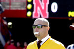 Minnesota head coach P. J. Fleck chews gum before an NCAA college football game against Nebraska in Lincoln, Neb., Saturday, Oct. 20, 2018. (AP Photo/Nati Harnik)