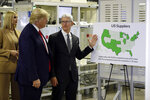 President Donald Trump tours an Apple manufacturing plant, Wednesday, Nov. 20, 2019, in Austin with Apple CEO Tim Cook and Ivanka Trump, the daughter and adviser of President Donald Trump, left. (AP Photo/ Evan Vucci)