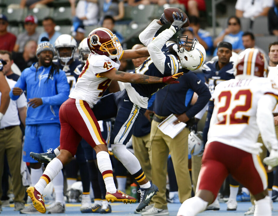 APTOPIX Redskins Chargers Football