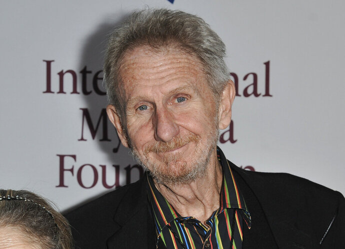 """FILE - This Nov. 9, 2013, file photo shows Rene Auberjonois at the International Myeloma Foundation 7th Annual Comedy Celebration in Los Angeles. Auberjonois, a prolific actor best known for his roles on the television shows """"Benson"""" and """"Star Trek: Deep Space Nine"""" and his part in the 1970 film """"M.A.S.H."""" playing Father Mulcahy, died Sunday, Dec. 8, 2019. He was 79. (Photo by Richard Shotwell/Invision/AP, File)"""