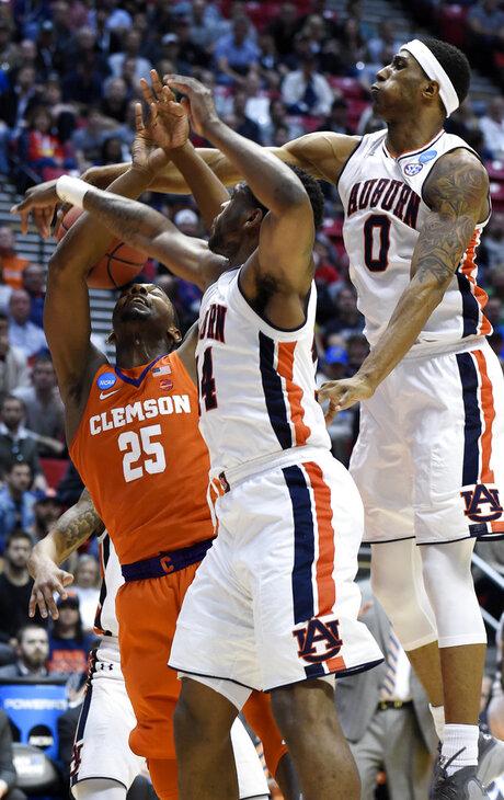 NCAA Clemson Auburn Basketball