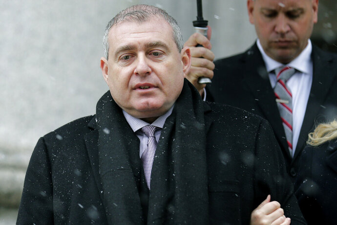 Lev Parnas arrives to court in New York, Monday, Dec. 2, 2019. Parnas and Igor Fruman, close associates to U.S. President Donald Trump's lawyer Rudy Giuliani, were arrested last month at an airport outside Washington while trying to board a flight to Europe with one-way tickets. They were later indicted by federal prosecutors on charges of conspiracy, making false statements to the Federal Election Commission and falsification of records. (AP Photo/Seth Wenig)