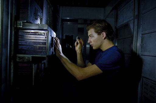 """This image released by Lionsgate shows Tye Sheridan in a scene from """"Voyagers."""" (Lionsgate via AP)"""