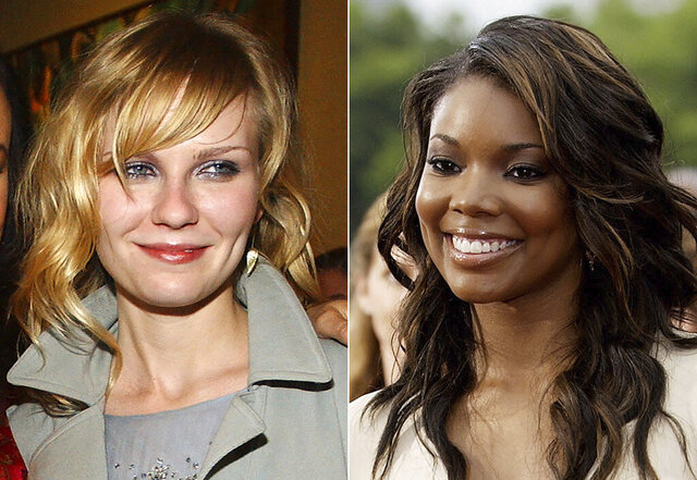 In this combination photo, Kirsten Dunst appears at the screening of her film