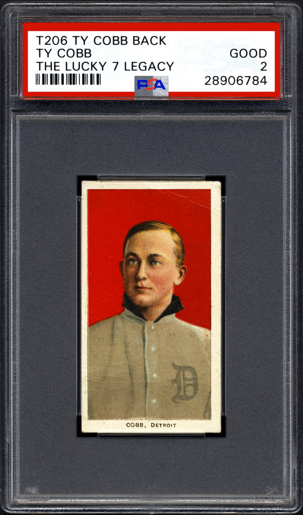 This undated photo provided by Professional Sports Authenticator shows the front of a Ty Cobb baseball card circa 1911. A family that made one of the greatest finds in the history of sports collectibles two years ago when they found seven Ty Cobb baseball cards printed between 1909 and 1911 have now found this, the eighth card in the matching set. Professional Sports Authenticator of Newport Beach, Calif., has verified the new card. (Professional Sports Authenticator via AP)