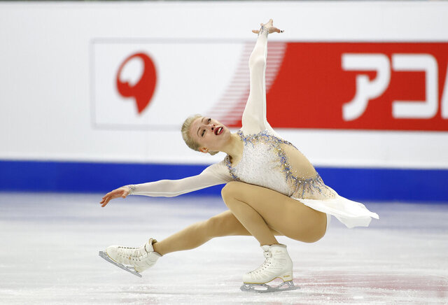 FILE - In this Feb. 8, 2020, file photo, United States' Bradie Tennell performs during the ladies' single free skating competition in the ISU Four Continents Figure Skating Championships in Seoul, South Korea.  Bradie Tennell, the 2018 U.S. figure skating champion and an Olympic team bronze medalist, is switching coaches, joining Tom Zakrajsek in Colorado Springs, Colorado. (AP Photo/Lee Jin-man, File)