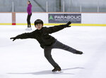 Keita Horiko, the 10-year-old U.S. Figure Skating juvenile boys champion, practices during his second workout of the day Thursday, Feb. 8, 2018, at the Ice House in Hackensack, N.J. With Asian-Americans making up half of the U.S. figure skating team at the Pyeongchang Olympics, talented youngsters like Horiko can hope to realize dreams of one day being on the ice at the international as they have plenty of role models to emulate. (AP Photo/Kathy Willens)