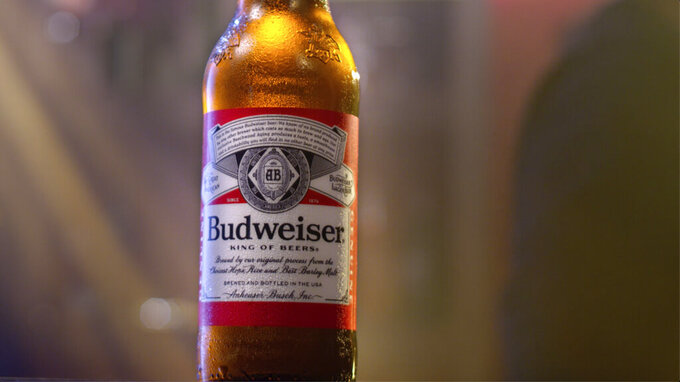 This undated image provided by Budweiser shows a scene from the company's 2020 Super Bowl NFL football spot. The Anheuser-Busch brand enlisted Oscar-winning director Kathryn Bigelow for a 60-second ad that promotes American values. (Budweiser via AP)