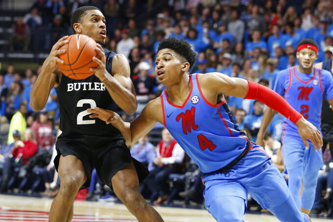 Baldwin scores 31 as No. 24 Butler beats Ole Miss 67-58