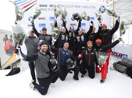 Rico Peter, Janne Bror van der Zijde, Simon Friedli, Thomas Andrianov, Steven Holcomb, Carlo Valdes, James Reed, Samuel McGuffie Chris Spring, Cameron Stones, Lascelles Brown, Samuel Giguere he Swiss team of Rico Peter, Simo