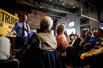 Democratic presidential candidate businessman Tom Steyer speaks at a campaign stop at the Grumpy Goat Tavern, Tuesday, Jan. 28, 2020, in Ankeny, Iowa. (AP Photo/Andrew Harnik)
