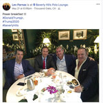 FILE - This file Facebook screen shot provided by The Campaign Legal Center shows, from left, Donald Trump Jr., Tommy Hicks Jr., Lev Parnas and Igor Fruman, posted on May 21, 2018. Parnas and Fruman were arrested in October 2019 on campaign finance violations resulting from a donation to a political action committee supporting President Donald Trump's reelection. (The Campaign Legal Center via AP, File)