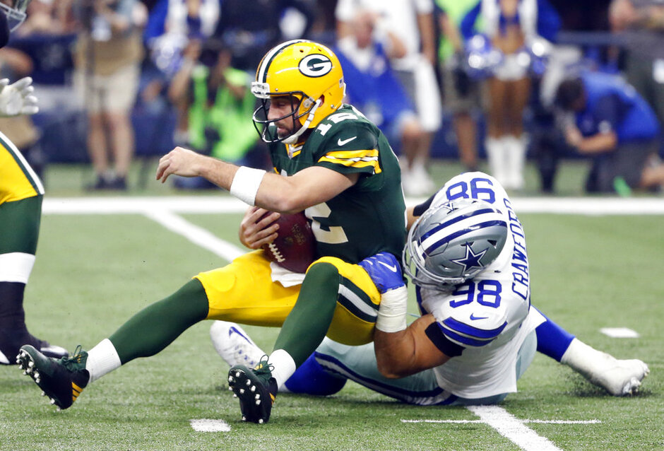 Aaron Rodgers, Tyrone Crawford
