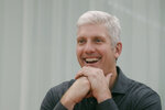 In this Tuesday, Sept. 24, 2019, photo Rick Osterloh, SVP of Google Hardware smiles while interviewed in Mountain View, Calif. (AP Photo/Jeff Chiu)