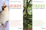 """This combination of cover images shows """"Birds of North America,"""" left, and """"Trees of North America"""" by the National Audubon Society. (Knopf via AP)"""