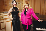 This April 28, 2019 photo shows Anne Hathaway, left, and Rebel Wilson posing for a portrait in New York to promote their film,