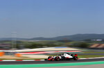 Haas driver Kevin Magnussen of Denmark drives during a free practice at the Barcelona Catalunya racetrack in Montmelo, just outside Barcelona, Spain, Friday, May 11, 2018. The Formula One race will take place on Sunday. (AP Photo/Manu Fernandez)