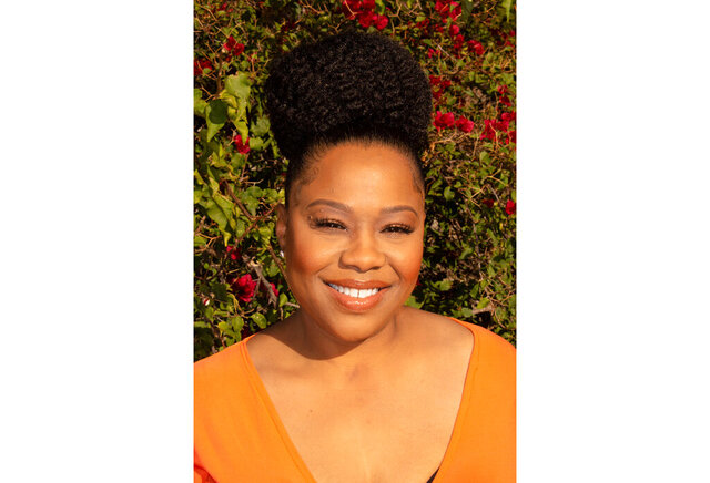 """This photo provided by Je'Caryous Entertainment shows Natalie Desselle Reid. Reid, who starred alongside Halle Berry in the 1997 film """"B.A.P.S."""" and on the sitcom """"Eve,"""" died Monday, Dec. 7, 2020. She was 53. (Leonard Reid/Courtesy of Je'Caryous Entertainment via AP)"""