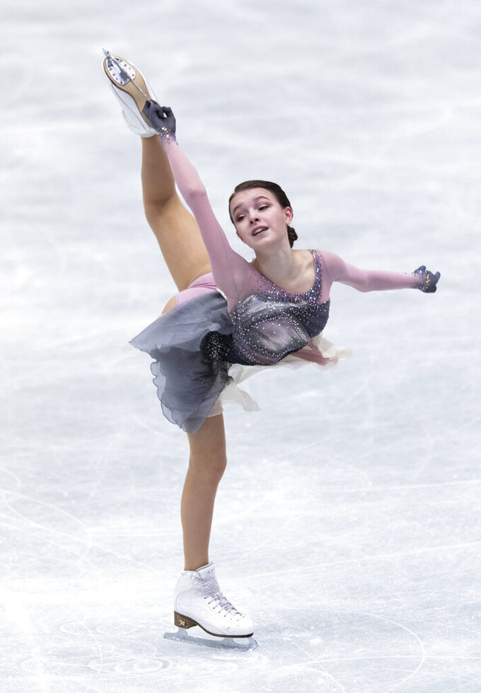 Shcherbakova seals Russia's first World Team Trophy victory