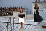 Model Kaia Gerber wears a creation as part of the Chanel Ready To Wear Spring-Summer 2020 collection, unveiled during the fashion week, in Paris, Tuesday, Oct. 1, 2019. (AP Photo/Francois Mori)