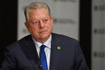 Former U.S. Vice President Al Gore, founder of the Climate Reality Project, speaks to the Associated Press in an interview, Friday, March 15, 2019, in Atlanta. Gore says the United States is nearing a political tipping point that will force elected officials to adopt more aggressive policies to combat climate change. (AP Photo/Mike Stewart)