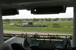 Monmouth Park racetrack is seen from a box in Oceanport, N.J., Monday, May 14, 2018. The Supreme Court on Monday gave its go-ahead for states to allow gambling on sports across the nation, striking down a federal law that barred betting on football, basketball, baseball and other sports in most states.  Monmouth Park has already set up a sports book operation and has previously estimated it could take bets within two weeks of a favorable Supreme Court ruling.  (AP Photo/Seth Wenig)