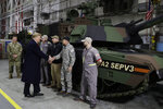 President Donald Trump takes a tour of the Lima Army Tank Plant, Wednesday, March 20, 2019, in Lima, Ohio. (AP Photo/Evan Vucci)