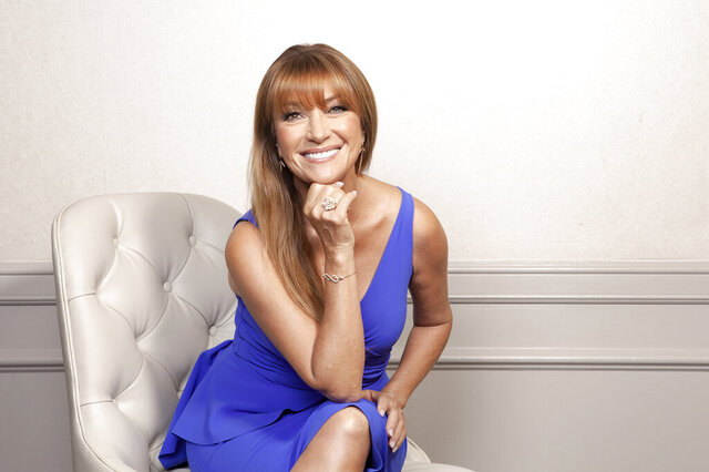 This Oct. 6, 2019 photo shows actress Jane Seymour posing at The Four Seasons Hotel in Los Angeles to promote her role in