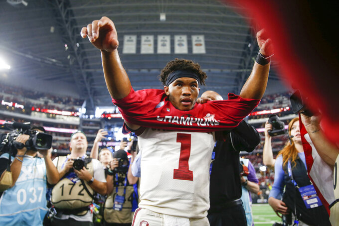 Oklahoma QB Kyler Murray posts season to remember