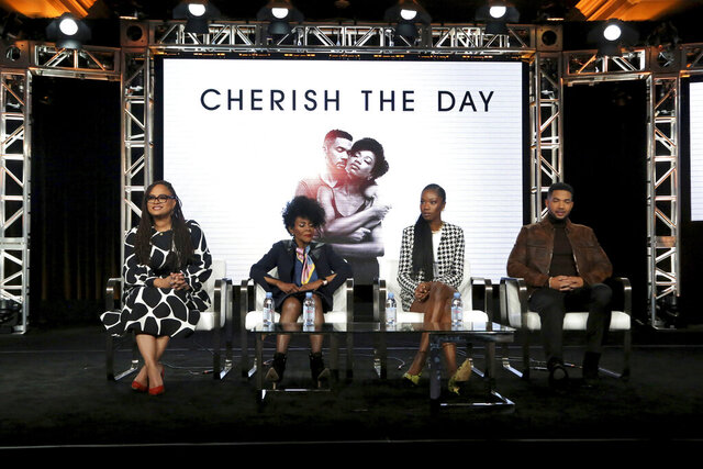 Ava DuVernay, from left, Cicely Tyson, Xosha Roquemore and Alano Miller appear at the OWN: Oprah Winfrey Network's