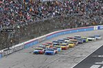Drivers get the green flag for the start of the NASCAR Cup Series All-Star auto race at Texas Motor Speedway in Fort Worth, Texas, Sunday, June 13, 2021. (AP Photo/Larry Papke)