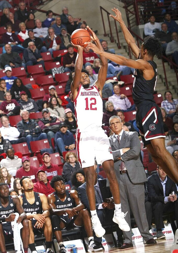 Lawson, South Carolina pull away for 84-80 win over UMass
